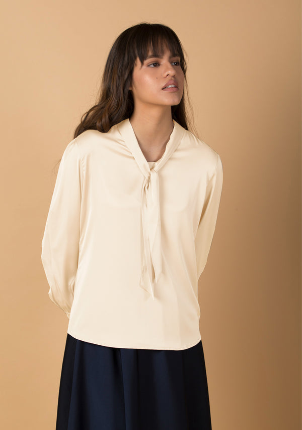 The Neck Tie Blouse