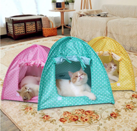 Foldable Pet Cat Tent - Play Bed House