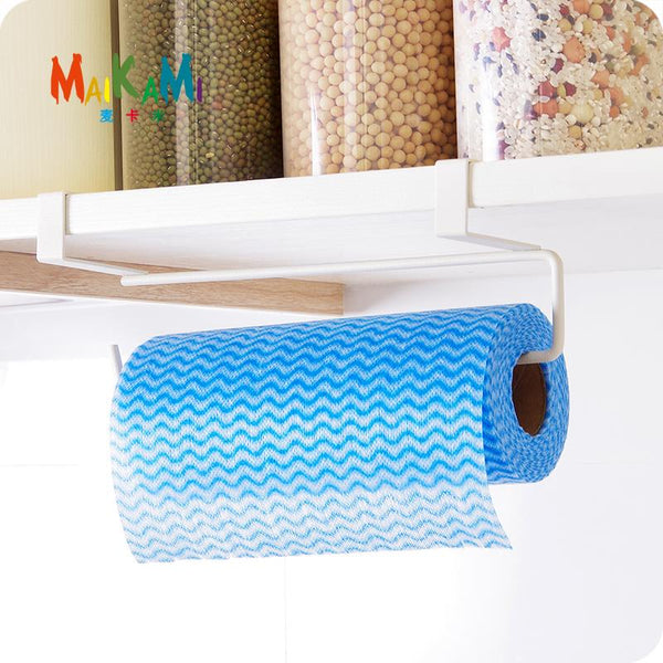 Hook Type Kitchen Paper Towel Holder Storage Rack