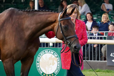 piggy french burghley horse trials trot up shibumi jacket
