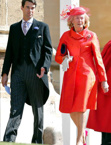 Emilie Van Cutsem Delphine Coat in Flame Royal Wedding