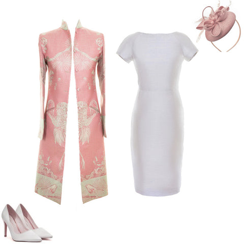 ladies nerhu coat pale pink cashmere pretty mother of the bride outfit
