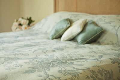 Bedspread/Throw in Duck Egg