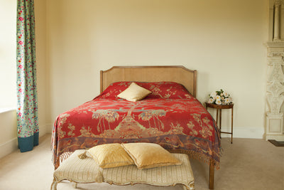 Bedspread/Throw in Venetian Red