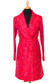 Shibumi Coat in Hot Cerise