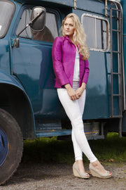 Short European Jacket in Wild Orchid
