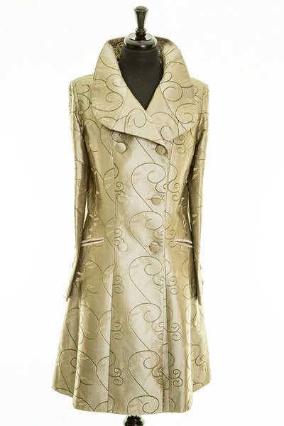 Delphine Coat in Antique Moss