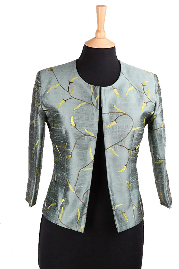 Juna Jacket in Metallic Teal