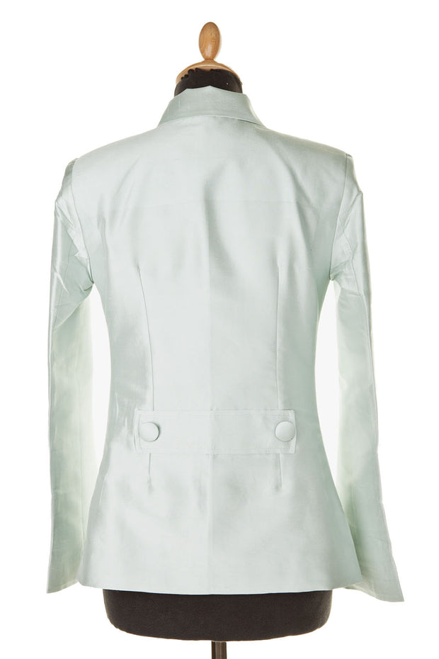 Short European Jacket in Mint Ice