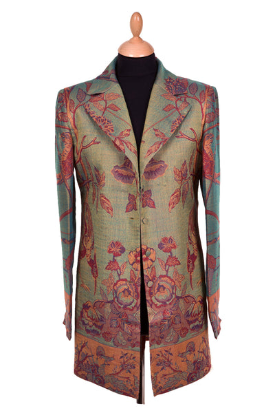 Long European Jacket in Opaline