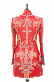 Long European Jacket in Venetian Red