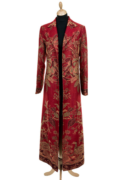 Aquila Coat in Rich Ruby - Sale