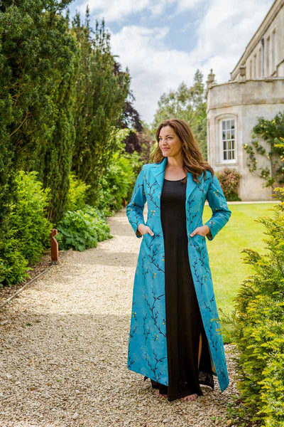 Aquila Coat in Brilliant Turquoise