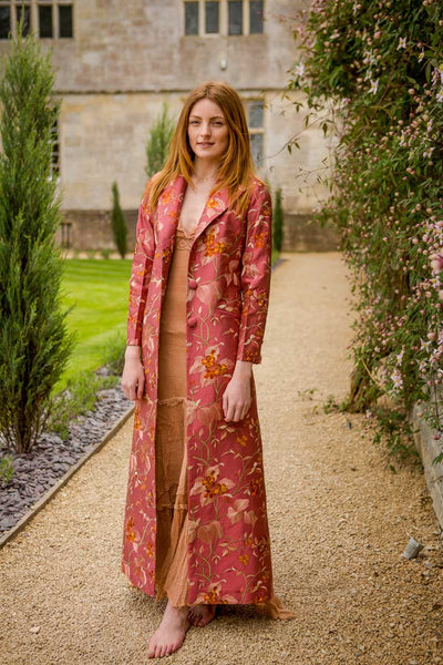 Aquila Coat in Pink Shalimar