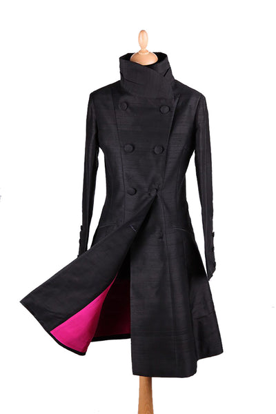 Delphine Coat in Liquorice - Sale