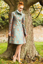 Delphine Coat in Aqua Teal