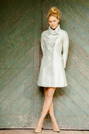 Delphine Coat in Mint Ice