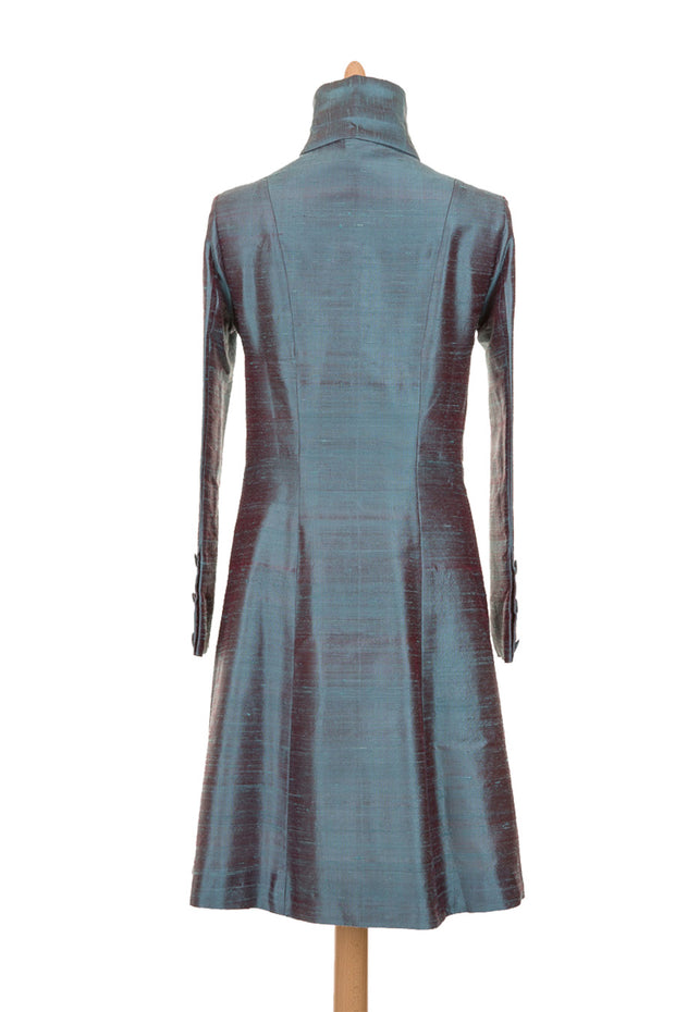 Delphine Coat in Smokey Blue