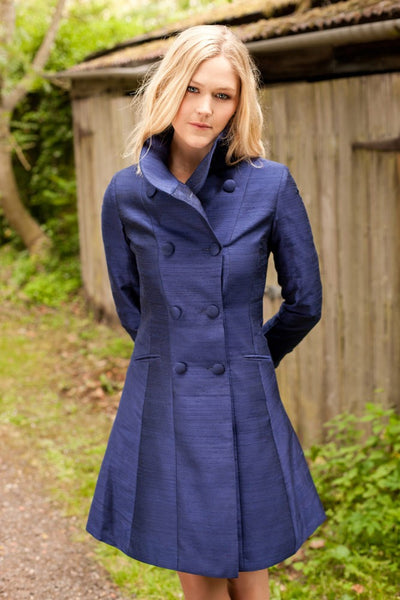 Delphine Coat in Midnight Blue