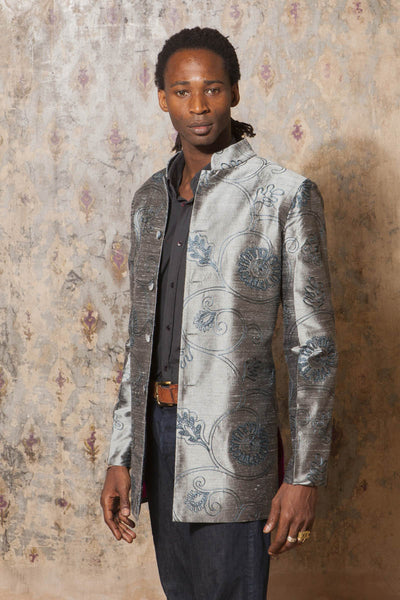 Mens Nehru Jacket in Mercury