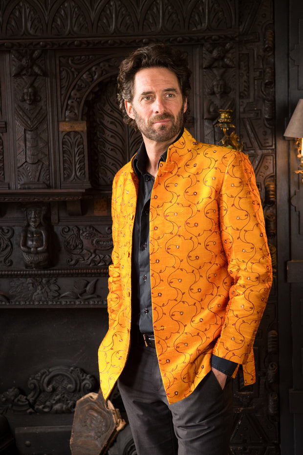 Mens Nehru Jacket in Jumoke Sun