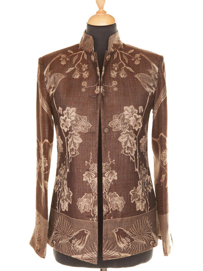 Short Nehru Jacket in Chocolate
