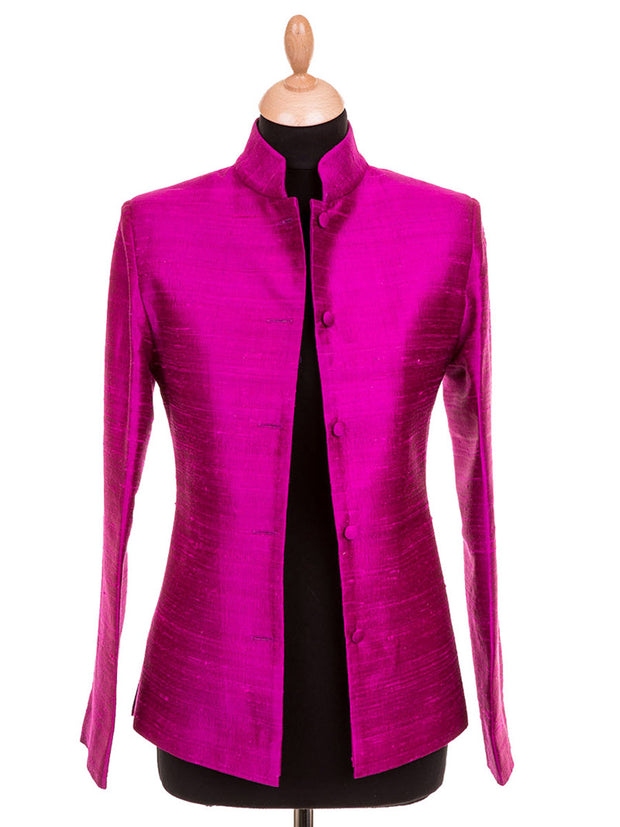 Short Nehru Jacket in Wild Orchid