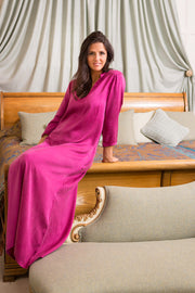 Coco Kaftan in Deep Raspberry Sandwash Silk