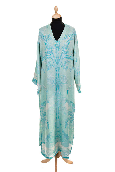 V Neck Kaftan in Eau de Nil