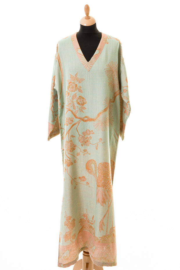 V Neck Kaftan in Eggshell