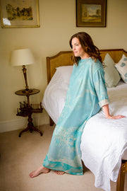 Bateau Neck Kaftan in Pale Cyan