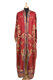 Reversible Dressing Gown in Venetian Red