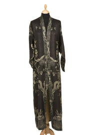 Reversible Dressing Gown in Ebony