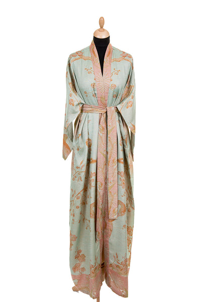 Reversible Dressing Gown in Eggshell