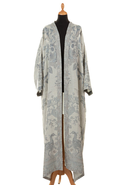 Reversible Dressing Gown in Duck Egg