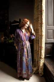 Reversible Dressing Gown in Imperial Blue
