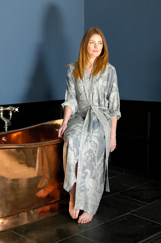 Reversible Dressing Gown in Wedgwood