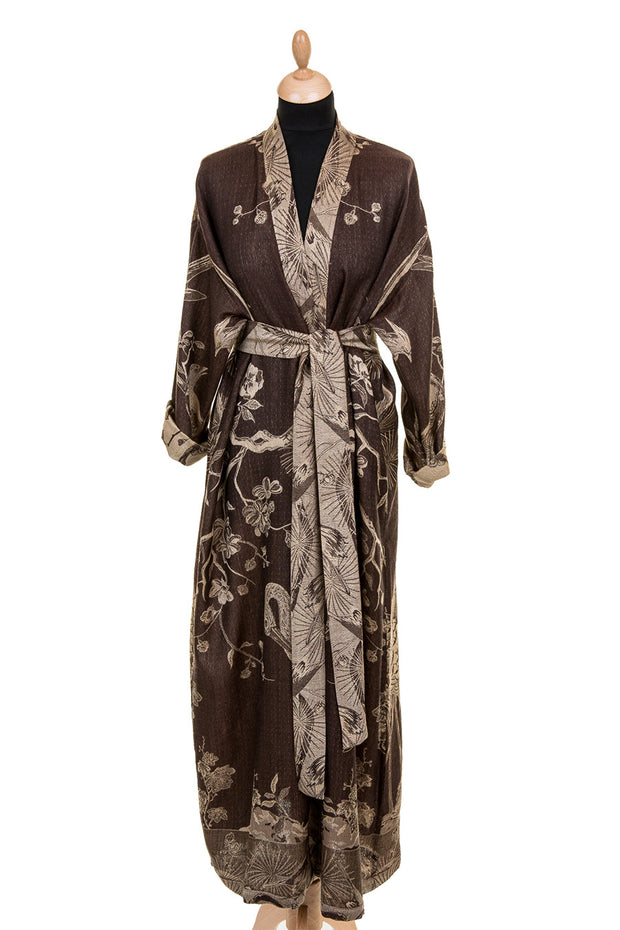 Reversible Dressing Gown in Chocolate