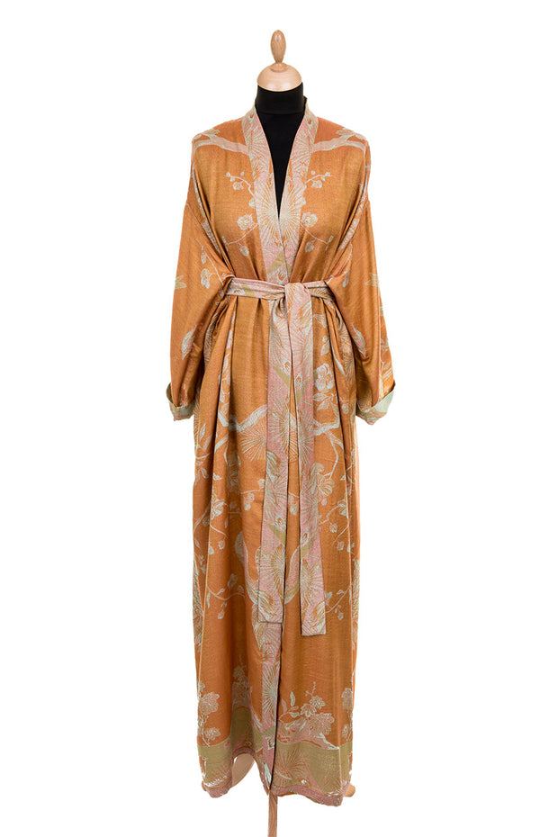 Reversible Dressing Gown in Apricot Moon