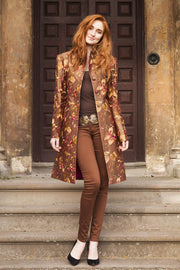 Grace Coat in Burnt Umber - Sale