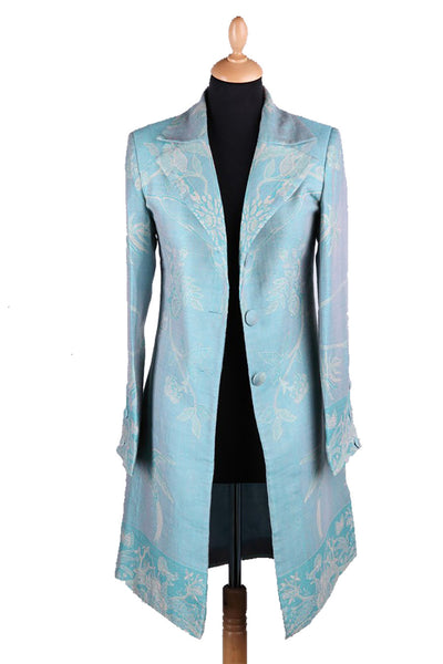 Grace Coat in Pale Cyan