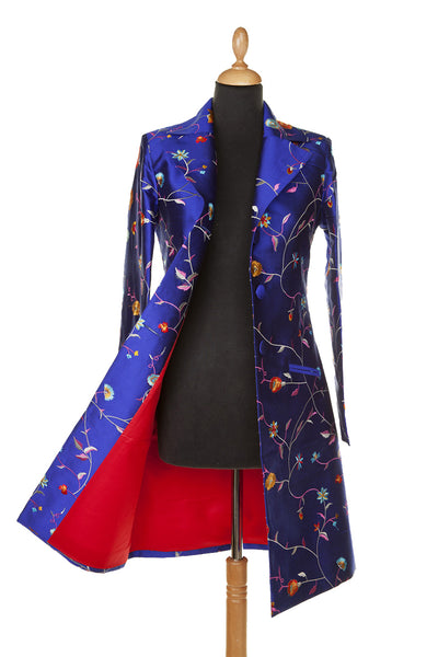 Grace Coat in African Cobalt