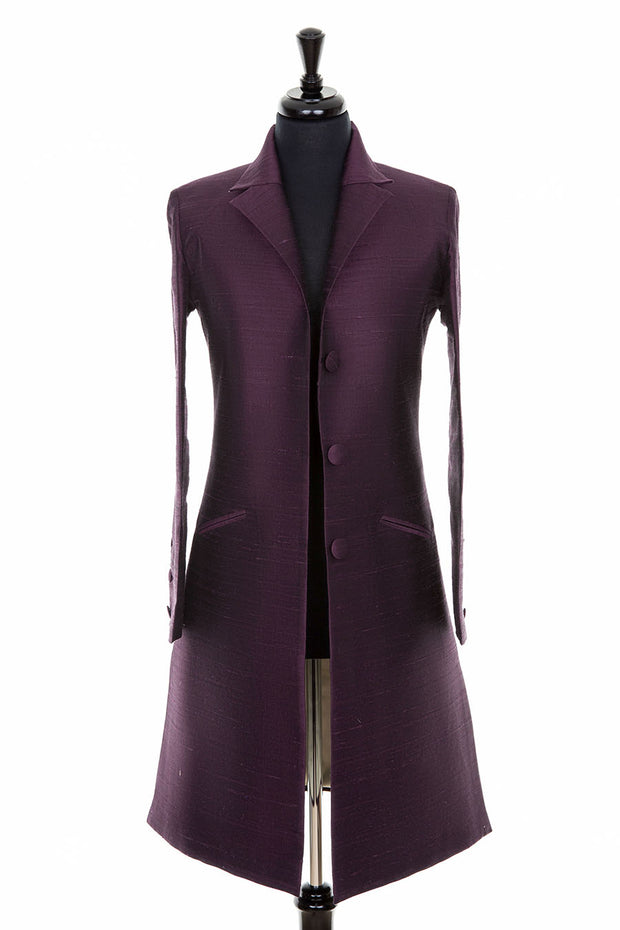 Grace Coat in Aubergine
