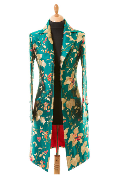Grace Coat in Magnificent Teal