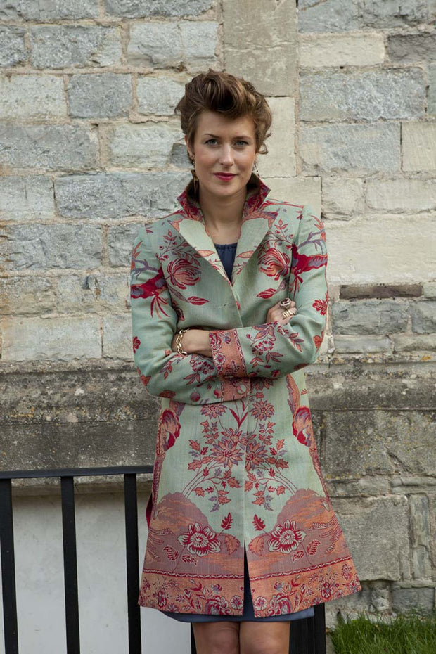 Grace Coat in Verdigris