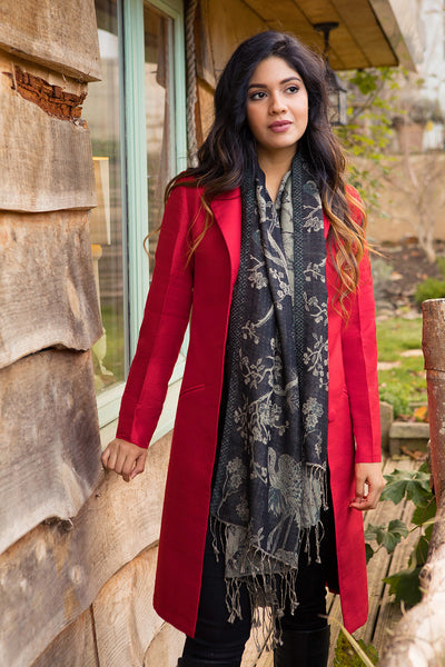 Grace Coat in Scarlet