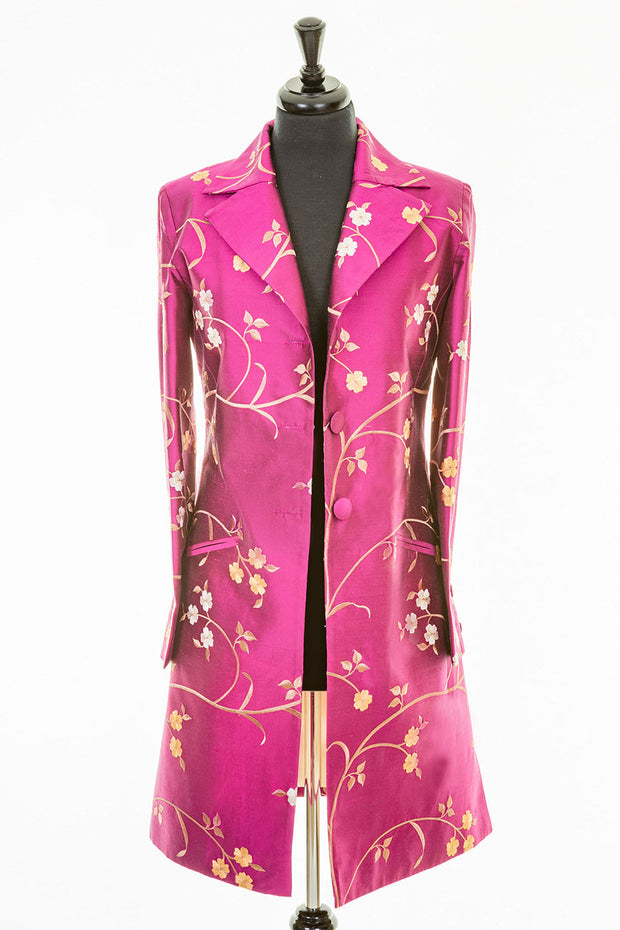 Grace Coat in Hot Magenta