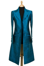 Stage Coat in Kingfisher Blue