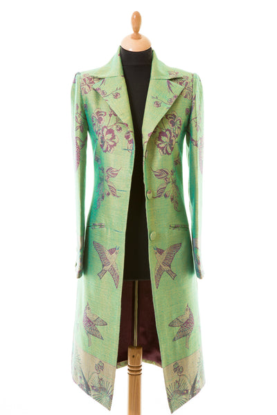 Stage Coat in Dragonfly Green