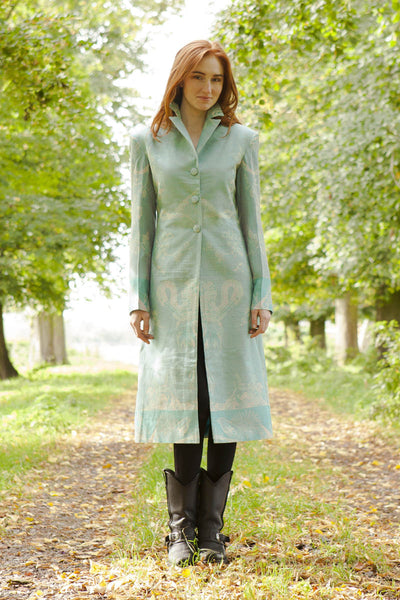 Stage Coat in Pale Cyan